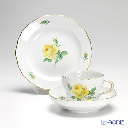 マイセン(Meissen) 黄色のバラ トリオセット