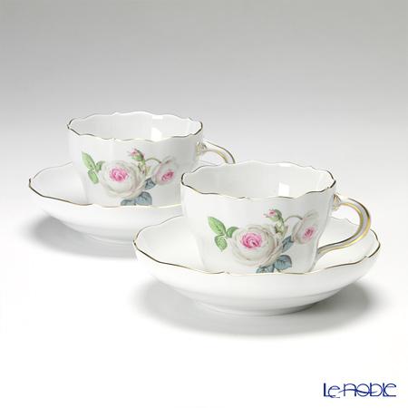 マイセン(Meissen) ホワイトローズ 029510/00582 コーヒーカップ&ソーサー 200cc ペア