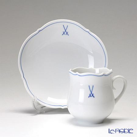 マイセン(Meissen) ホワイトマイセン(VIP) 825009/23582コーヒーカップ&ソーサー 150cc ペア