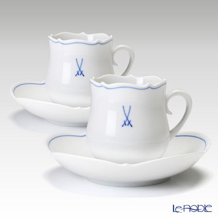 マイセン(Meissen) ホワイトマイセン(VIP) 825009/23582 コーヒーカップ&ソーサー 150cc ペア