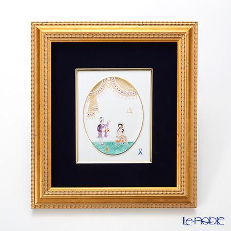 マイセン(Meissen) 陶板 680710/53n32アラビアンナイト 18×15cm Motiv No.4 【額装付】