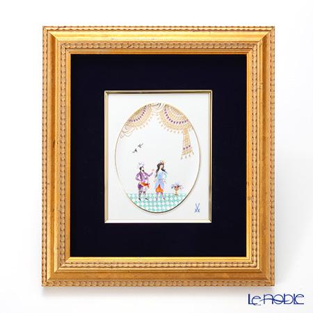 マイセン(Meissen) 陶板 680710/53n32アラビアンナイト 18×15cm Motiv No.9 【額装付】