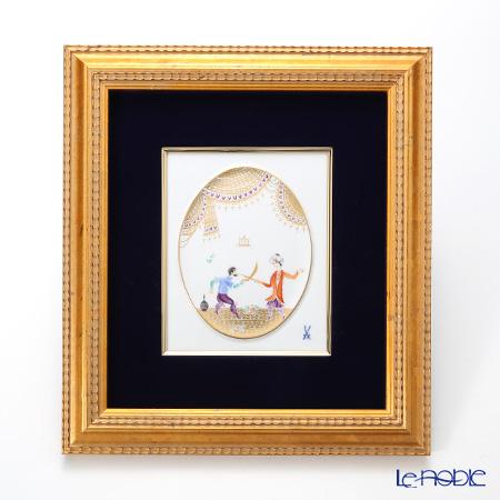 マイセン(Meissen) 陶板 680710/53n32アラビアンナイト 18×15cm Motiv No.15 【額装付】