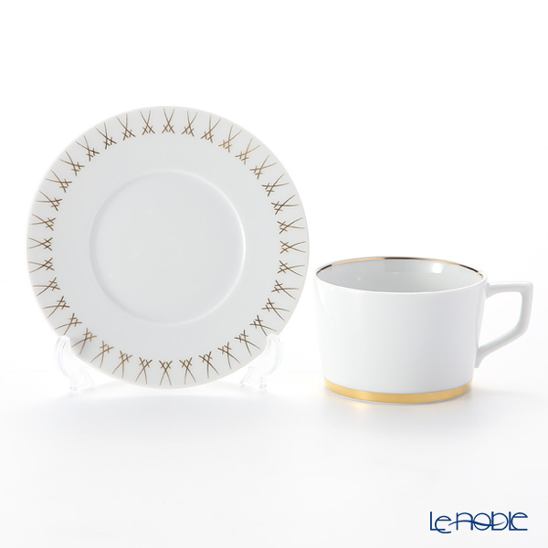Meissen 'Swords' Luxury Gold 99A370-41584 Cappuccino Cup & Saucer 200ml (set of 2)