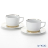 Meissen Swords Luxury Gold 99A370-41584 Cappuccino Cup & Saucer 200ml (set of 2)