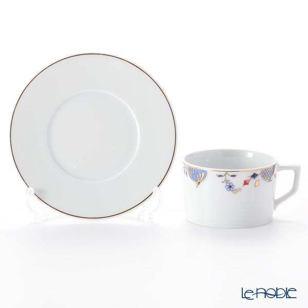 マイセン(Meissen) ノーブルブルー 802190-41582(572/98A077-41562)コーヒーカップ&ソーサー 180ml (オニオンエッジ) ペア