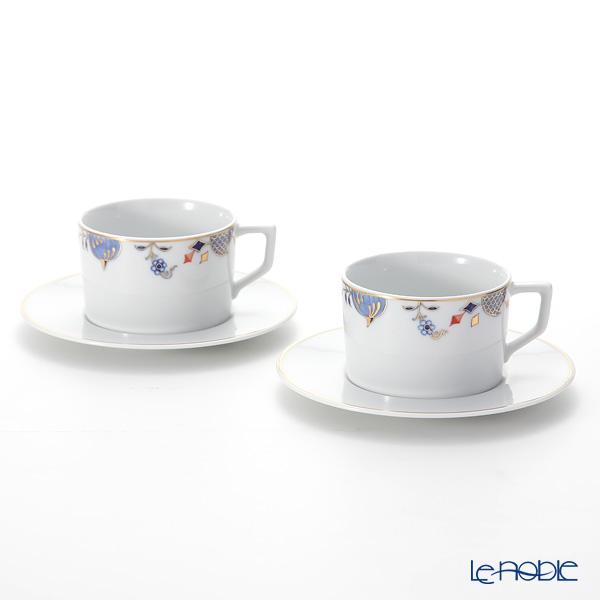 マイセン(Meissen) ノーブルブルー 802190-41582(572/98A077-41562) コーヒーカップ&ソーサー 180ml (オニオンエッジ) ペア