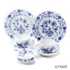 Meissen Lucky Bag 'Blue Onion' 800101/00582&00472&00141 Coffee Cup & Saucer, Plate, Round Box (set of 5 for 2persons)