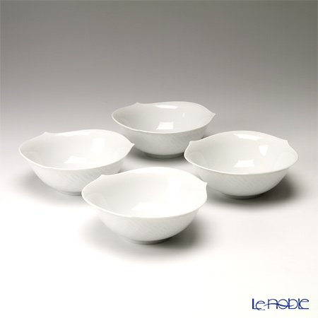 Meissen Waves Relief White 000000 / 29411 Salad Bowl set of 4