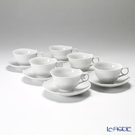 マイセン(Meissen) 波の戯れホワイト 000001/29633 ティーカップ&ソーサー 170cc 6客セット
