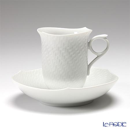 マイセン(Meissen) 波の戯れホワイト 000001/29582コーヒーカップ&ソーサー 180cc ペア