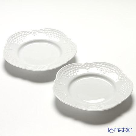 マイセン(Meissen) ホワイトレリーフ 000001/26500 プレート 15cm ペア