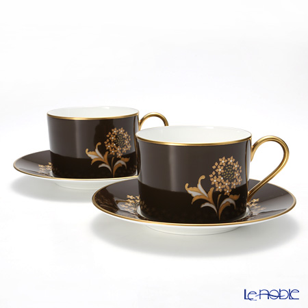 Nikko Park Residence Teacup & Saucer, 7.5 oz set of 2