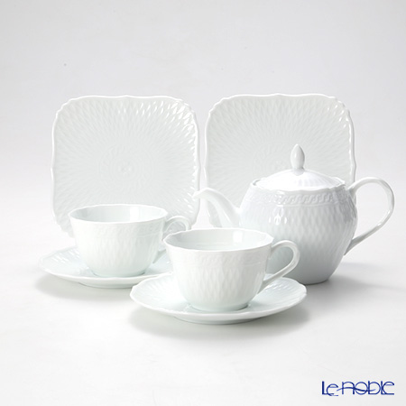 Noritake Cher Blanc Tea set for 2 [A]