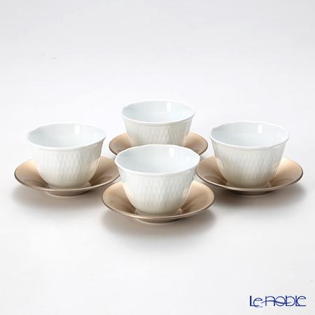 ノリタケ シェール ブラン 4人用 日本茶セット