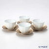 Noritake Cher Blanc Japanese Tea cup & Saucer set of 4