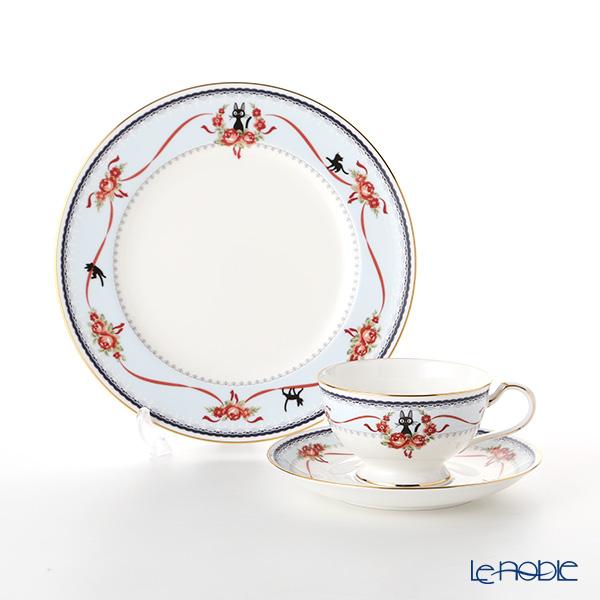 ノリタケ 魔女の宅急便 ブルー(H-613L) トリオ セット 21cmプレート(MJ97211)& ティー・コーヒー碗皿(MJ97221)
