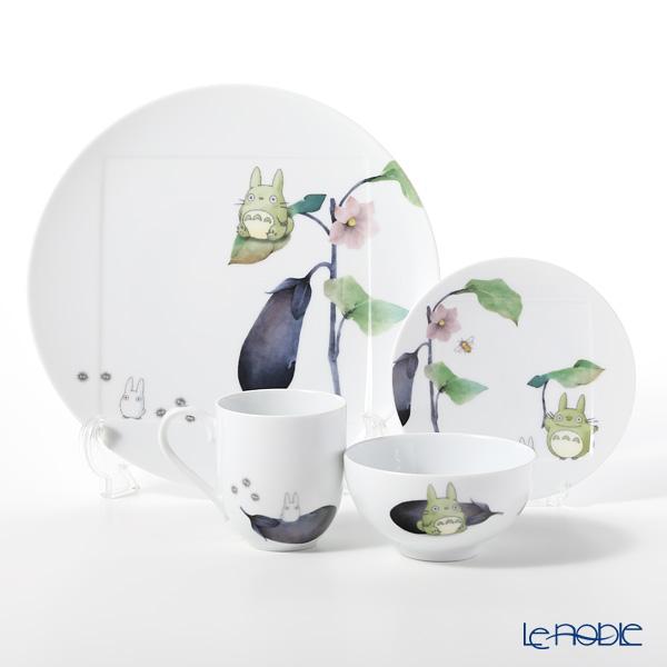Noritake My Neighbor Totoro Vegetable Collection set of 4 (Plate, Mug and Rice Bowl) Aubergine/Eggplant 则武 吉卜力工作室 龙猫/豆豆龙 茄子 4件套