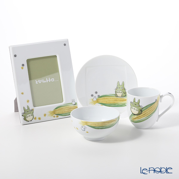 Noritake My Neighbor Totoro Vegetable Collection set of 4 (Plate, Mug, Rice Bowl and Photo Frame) Corn 则武 吉卜力工作室 龙猫/豆豆龙 玉米 4件套