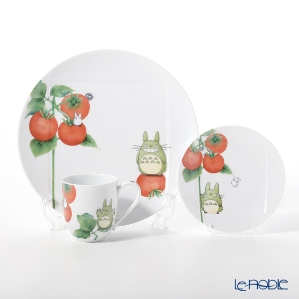 Noritake 'My Neighbor Totoro Vegetable Collection - Tomato' Mug, Plate (set of 3 for 1 person) 则武 '吉卜力工作室 龙猫/豆豆龙 - 西红柿' 马克杯,盘 (3件套)