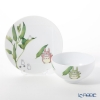 Noritake 'My Neighbor Totoro Vegetable Collection - Okra' Plate, Rice Bowl (set of 2 for 1 person) 则武 '吉卜力工作室 龙猫/豆豆龙 - 秋葵' 碗,盘 (2件套)