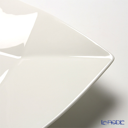 Primobianco 'White & Crease' Square Bowl & Plate (L / set of 10 for 5 persons)
