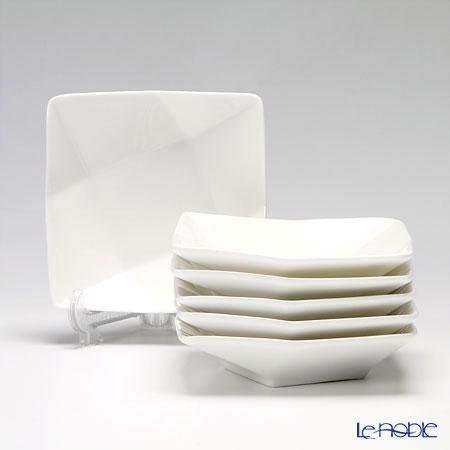 プリモビアンコ 白の器 スクエアディーププレート(S) 11.5cm 6枚セット
