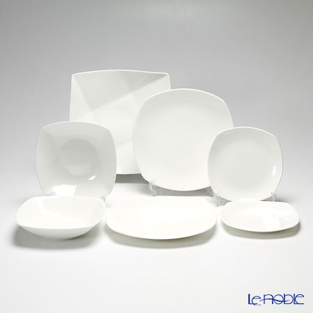 Primobianco 'White & Crease' Plate, Bowl (set of 7 size)