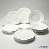 Primobianco Wave shape 4 sizes plate 24 pcs.