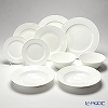 Primobianco Wave shape 4 sizes plate & Bowl for 2 person 10 pcs.