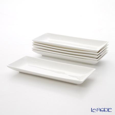 プリモビアンコ 白の器長方形皿 29×12cm 6枚セット