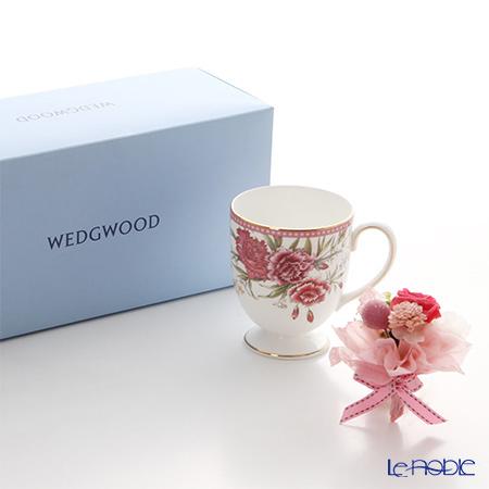 ウェッジウッド(Wedgwood) ギフトセット 【ブランドボックス付】カーネーションフラワーマグ&プリザーブドフラワーミニブーケ(レッド・ホットピンク・紫のうちいずれか)