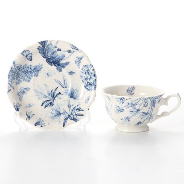Portmeirion 'Botanic Blue' Tea Cup & Saucer 170ml (set of 2)