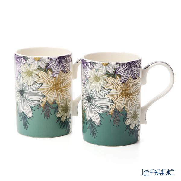 Portmeirion 'Atrium - Floral' Mug 340ml (set of 2)
