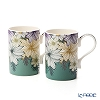 Portmeirion 'Atrium - Floral' Mug 340ml (set of 2)