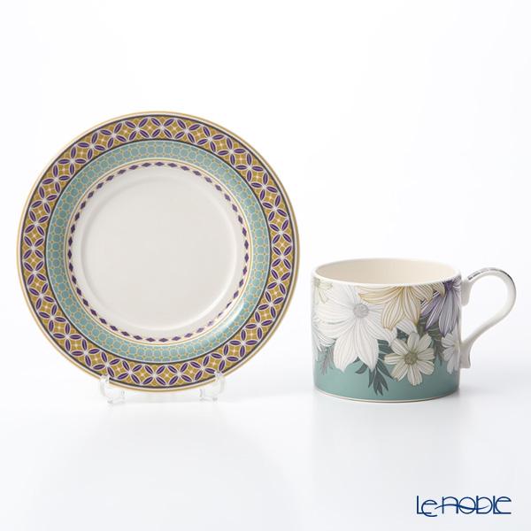Portmeirion 'Atrium - Floral / Geo' Tea Cup & Saucer 280ml (set of 2)