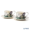 Portmeirion 'Atrium - Floral / Geo' Tea Cup & Saucer 280ml (set of 2)