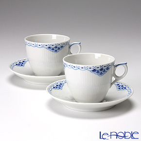 Royal Copenhagen Princess Cup & saucer 17 cl, coffee 1104071, 2 pcs.