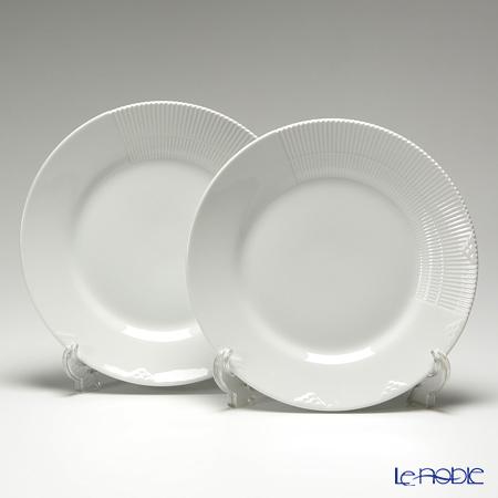 Royal Copenhagen White Elements Dinner plate 25 cm 2597625 set of 2 & Le noble - Royal Copenhagen White Elements Dinner plate 25 cm ...