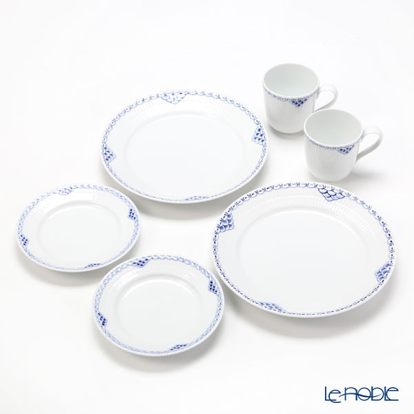Royal Copenhagen Princess Blue Plate & Mug set for 2 person (set of 6)