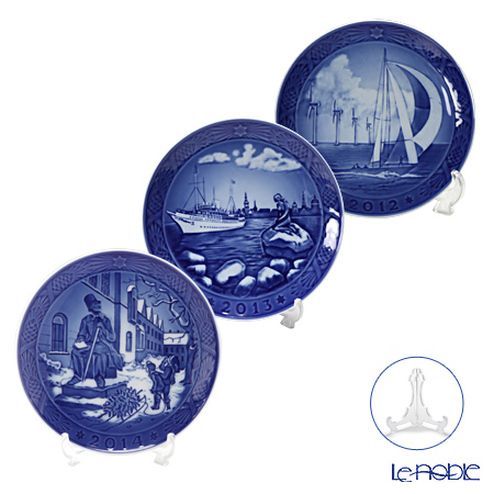 Royal Copenhagen Collectibles '2012, 2013 and 2014' Christmas Plate 18cm (set of 3 patterns)
