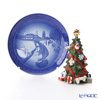 Royal Copenhagen (Royal Copenhagen) earset 2017 Christmas Plate & annual Christmas tree.
