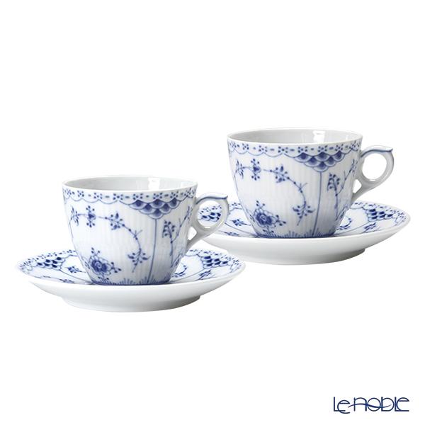 ロイヤルコペンハーゲン(Royal Copenhagen) ブルー フルーテッド ハーフレース コーヒーカップ&ソーサー 170cc ペア 1102071/1017205