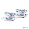 Royal Copenhagen Blue Fluted Half Lace Cup & saucer 17 cl, coffee 1102071 (Set of 2)
