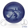 Royal Copenhagen Christmas Plate 2017 - 'Walk at the Lakes' with stand & hanger for plate