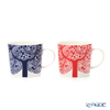Royal Dolton 'Fable - Tree' Red & Blue Mug 400ml (set of 2 colors)