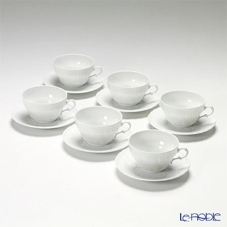 Richard Ginori Vecchio Bianco Tea Cup & Saucer 6 pcs set 240 cc