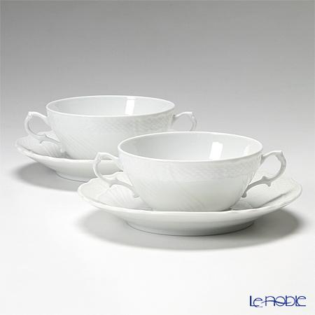 ジノリ1735/リチャード ジノリ(GINORI 1735/Richard Ginori) ベッキオホワイト スープカップ&ソーサー 300cc ペア