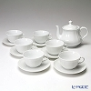 Richard Ginori Antico Bianco Tea Cup & Saucer and teapot 7-piece set