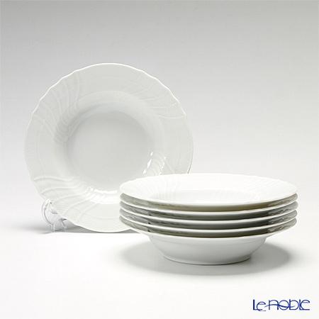 リチャードジノリ(Richard Ginori) ベッキオホワイトスーププレート 20cm 6枚セット